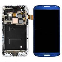 Samsung Galaxy SIV I545 L720 R970 blue LCD, модуль, дисплей с сенсорным экраном с рамкой в сборе