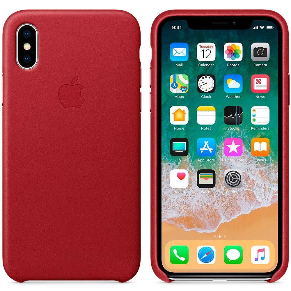 Шкіряний чохол Apple Leather Case (PRODUCT) RED для iPhone Xs Max (high copy)
