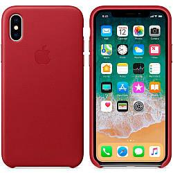 Кожаный чехол Apple Leather Case (PRODUCT) RED   для iPhone Xs Max (high copy)