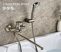 Смеситель для ванной с длинным изливом SANTEP 24566 Бронза