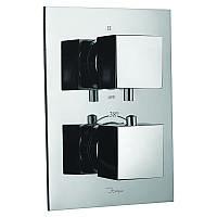 Смеситель-термостат для ванны и душа встроенный Jaquar Kubix на 3 положения