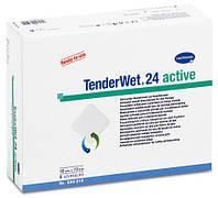 Пов`язки комб.TenderWet 24 active 7,5см*7,5см №10
