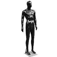 Манекен чоловічий чорний в повний зріст