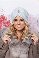 Вязаная шапка женская Авелия светло-голубая