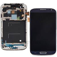 Samsung I337 blue LCD, модуль, дисплей с сенсорным экраном с рамкой в сборе