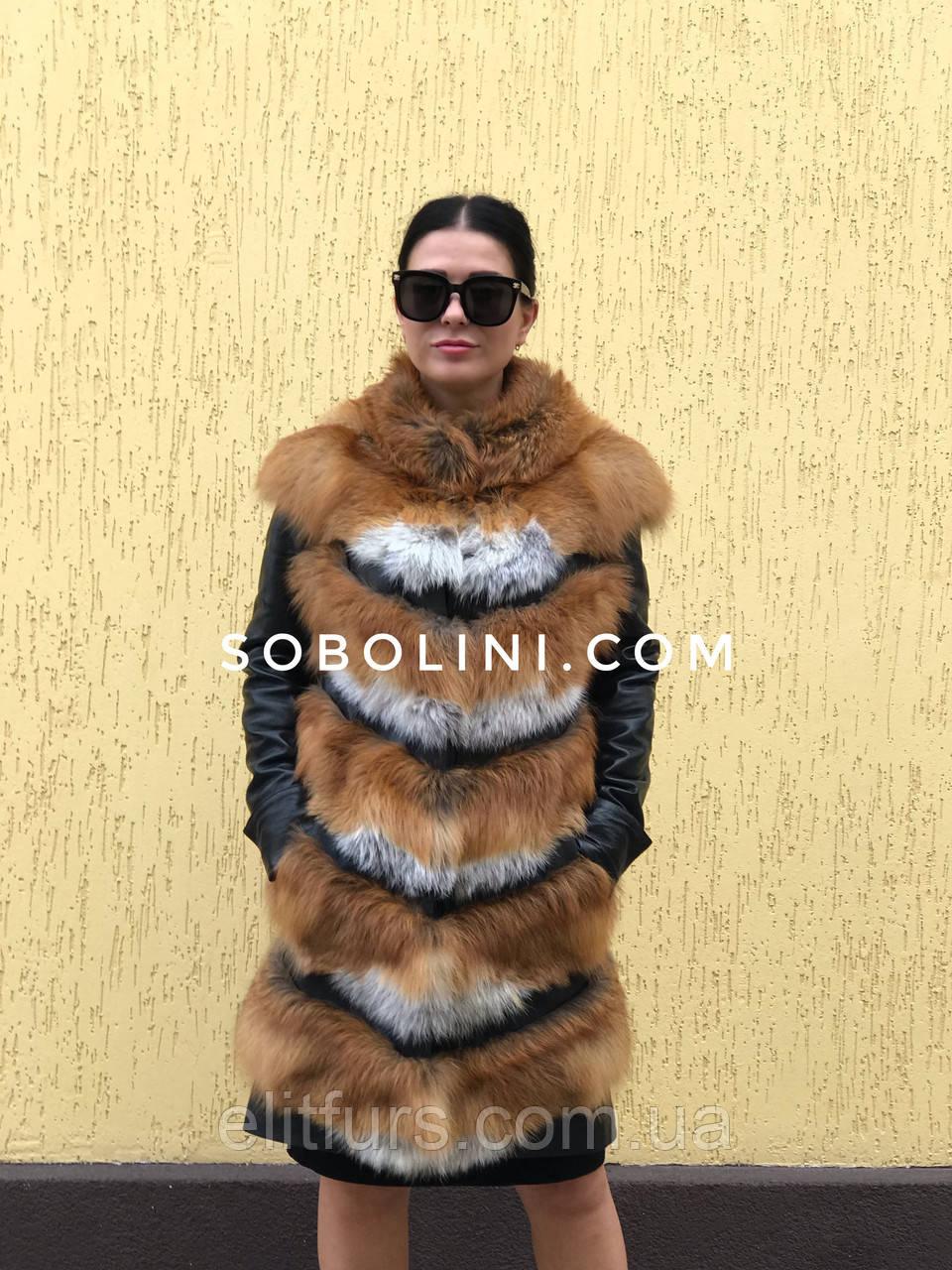 Куртка-трансформер из лисы в наличии