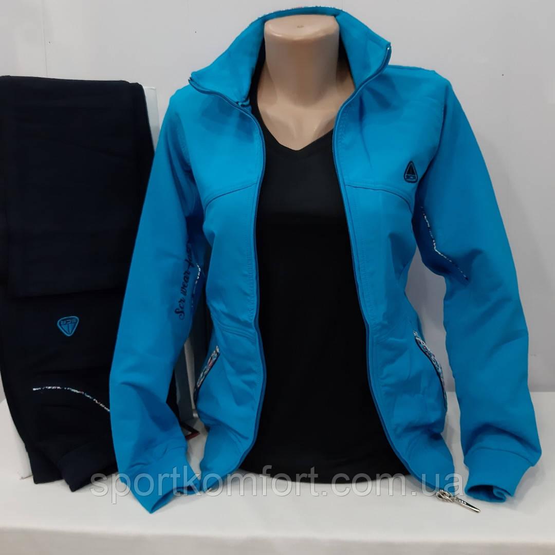 Спортивный трикотажный демисезонный женский костюм Турция Soccer 70 хлопок размер S