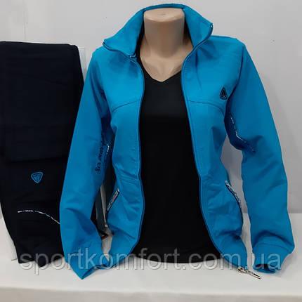 Спортивный трикотажный демисезонный женский костюм Турция Soccer 70 хлопок размер S, фото 2