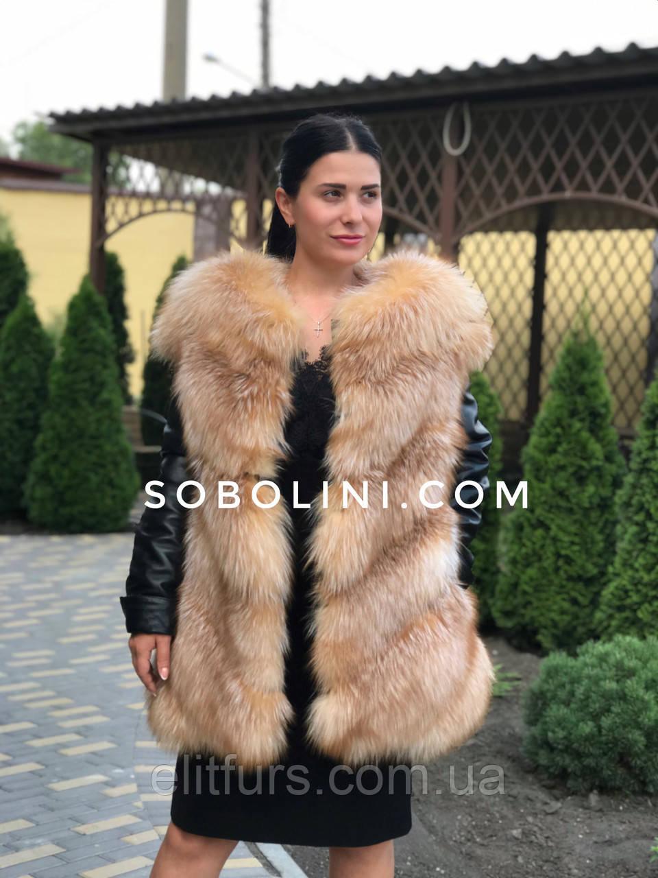 Куртка из меха блюфроста, рукава отстегиваются,в наличии 44р