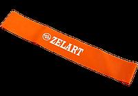 Эспандер для фитнеса, фитнес-резинка MINI BANDS (размер 600x50x0,7мм, жесткость S, оранжевый)