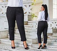 Женские укороченные штаны ,пояс на резинке .карманы  50-52.54-56 Цвет - бордо .синий. черный