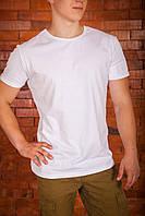 Футболка мужская белая рибана, фото 1