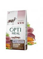 Корм Оптиміл Optimeal беззерновий для собак усіх порід з качкою та овочами 1,5 кг