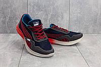 Мужские кроссовки текстильные летние синие-красные CrosSAV 51