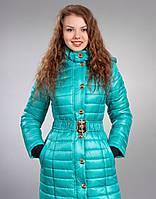 Зимняя женская молодежная куртка, цвет бирюза
