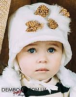 Детская шапка для девочек КЛЕР оптом размер 46-48-50