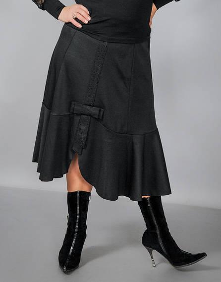 """Юбка женская """"Бант"""" больших размеров"""