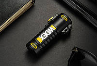 Вологозахищена електроімпульсна запальничка WDEX BS-1506 акумуляторна USB Чорно-Жовтий (SUN5534)