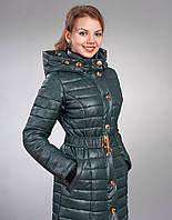 Зимняя женская молодежная куртка, цвет темно зеленый