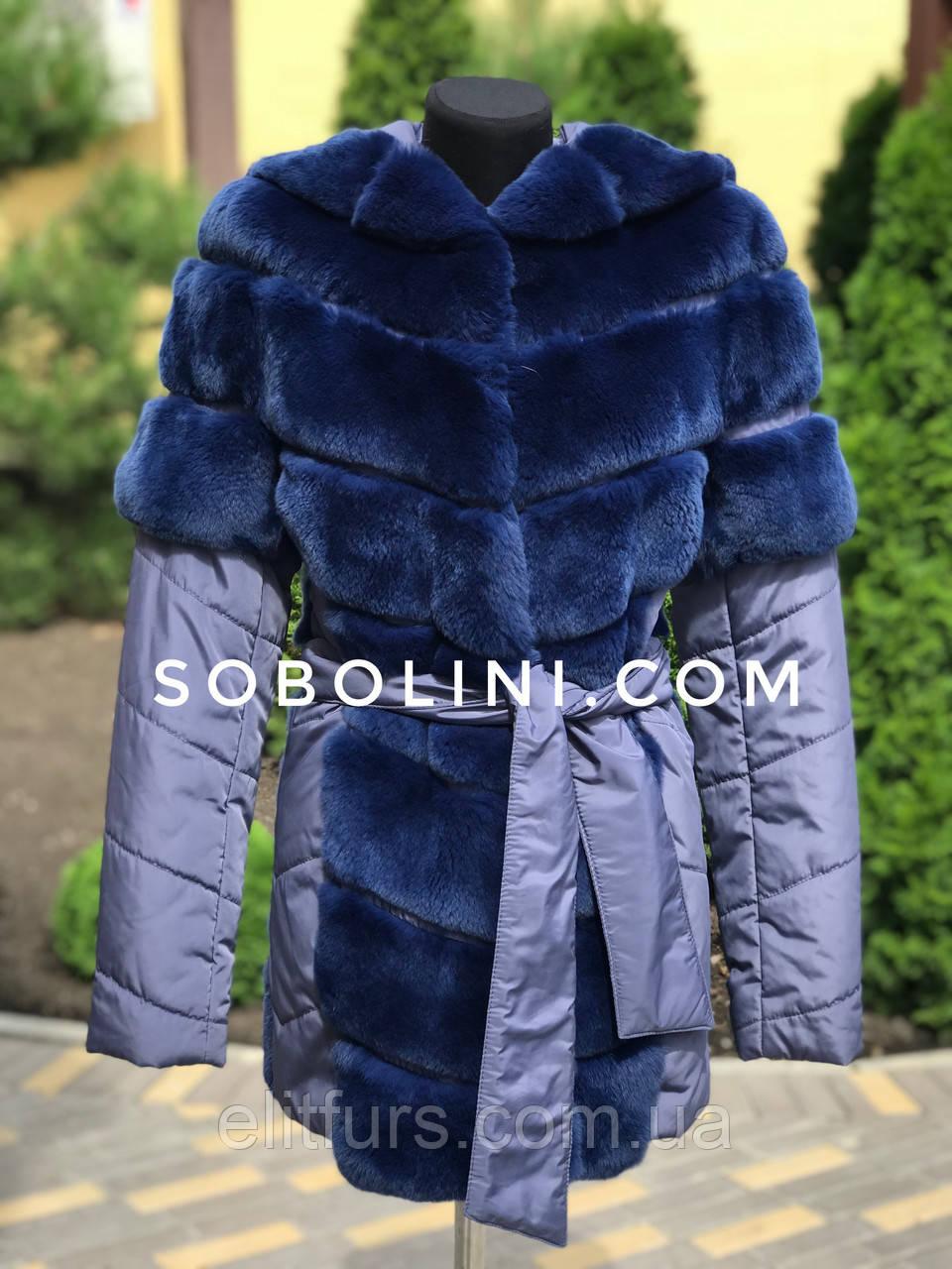 Куртка из кролика рекса, рукава отстегиваются
