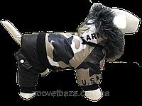 Зимний комбинезон для собак Army с капюшоном DogsBomba