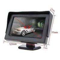 Автомонитор LCD 4.3'' для двух камер,  монитор автомобильный для камеры заднего вида