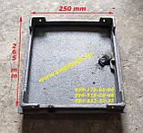 Дверка чугунная печная (250х265 мм) грубу, барбекю, мангал, фото 2