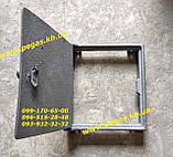Дверка чугунная печная (250х265 мм) грубу, барбекю, мангал, фото 3