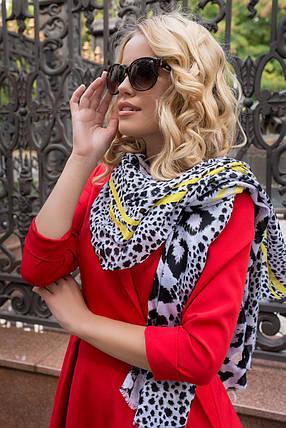 Классическое платье миди с V-образным вырезом рукав три четверти цвет красный, фото 2