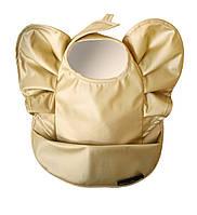 Слюнявчик с карманом для кормления Elodie details  Golden Wings