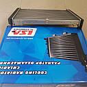 Радиатор водяного охлаждения Газель Соболь Рута Бизнес на штырях нового образца 3 рядный алюминий (пр-во LSA), фото 3