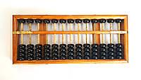 Счеты деревянные соробан абакус ментальная арифметика 13 рядов 28x12x2,5 см.