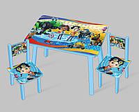 """Столик мини """"Расти строитель"""" С 095 (60*46 см), столик + 2 стула"""