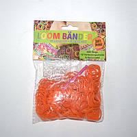 Резиночки для плетения Loom Bander с запахом апельсина 300 шт. (оранжевые)