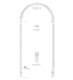 Переходник Classic Home HW-13013, лепной декор из полиуретана, фото 2