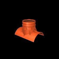 Седловое соединение 90⁰ ПП SN8 К2-Кан 250/200