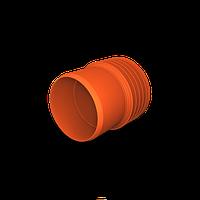 Муфта переход ПП SN8 К2-Кан на раструб ПВХ 400/400
