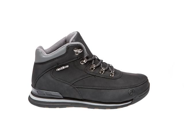 Ботинки мужские зимние Restime чёрные, нубук
