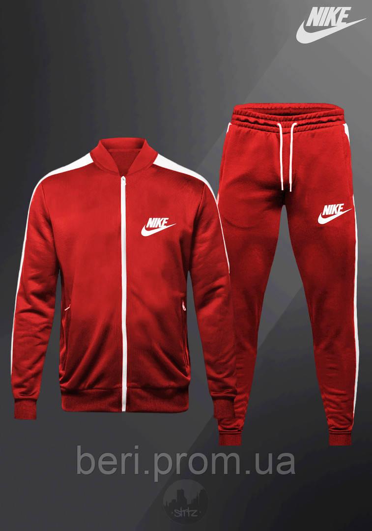 КАЧЕСТВО! NIKE   Мужской спортивный костюм, Олимпийка, Штаны   Найк   Костюм Спортивний Nike (Красный)
