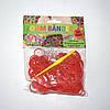 Резиночки для плетения Loom Bander с запахом клубники 300 шт. (красные)