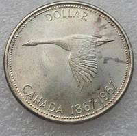 Канада 1 доллар 1967 г серебро
