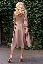 Осеннее платье низ свободный рукав три четверти  цвет бежевый, фото 2