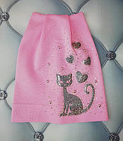Шапка девочке Кошка, Польша, р. 3-6 лет, фото 1