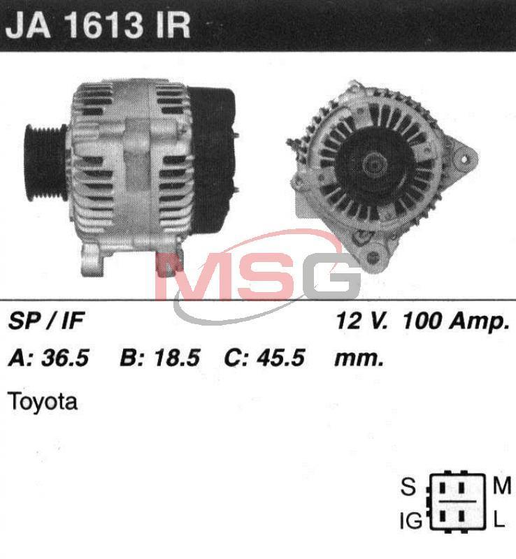 Генератор Toyota Avensis 2.0-2.4 2000-2006 100A