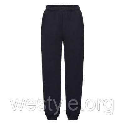 Спортивные брюки на флисе с манжетами детские - 64025-AZ глубокий темно-синий