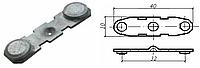 Контакт силовой подвижный к пускателю электромагнитному ПМА-3 медь в гальванопокрытии