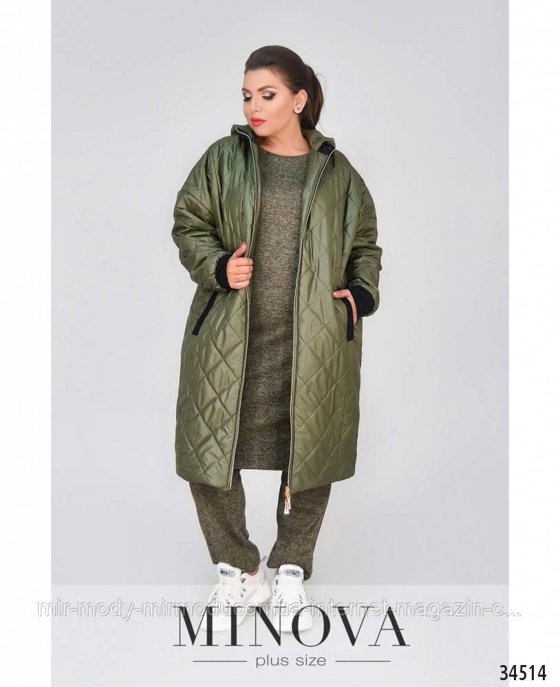 Куртка батальная длинная  №1859-1-Хаки  с 48 по 62 размер Полномерная (минов)