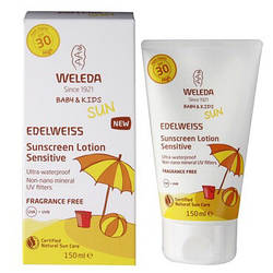 Солнцезащитный крем Weleda Эдельвейс для чувствительной кожи SPF 30 150 мл