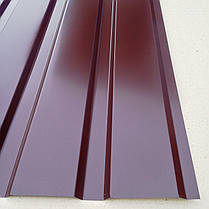 Профнастил  для забора, цвет: шоколад ПС-20, 0,30мм; высота 2 метра ширина 1,16 м, фото 3