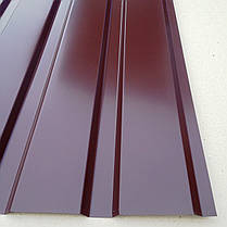 Профнастил  для забора, цвет: шоколад ПС-20, 0,30мм; высота 2 метра ширина 1,16 м, фото 2
